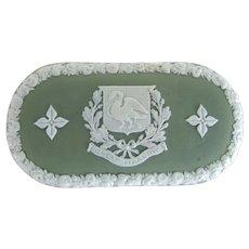 Antique Wedgwood Jasperware Match Box Great Marlow Crest