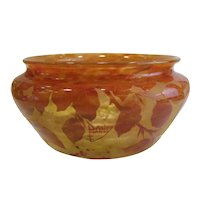 Daum Nancy France Cameo Glass Bowl