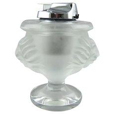 Lalique Crystal Tete De Lion Cigarette Lighter
