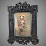 Antique Victorian Gutta Percha Union Case Thermoplastic Photo Frame
