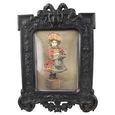 Antique Victorian Gutta Percha Union Case Thermoplastic Photo Frame