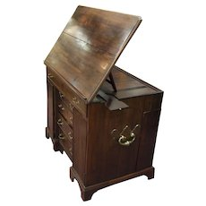 Georgian Mahogany Metamorphic Architects Desk with Secret Compartment