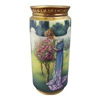 A Royal Vienna Porcelain Vase Renaissance Beauty in a Rose Garden