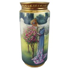 A Royal Vienna Porcelain Vase Renaissance Beauty in a Rose Garden