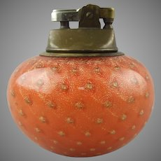 Italian Glass Murano Bullicante Paperweight Form Table Lighter