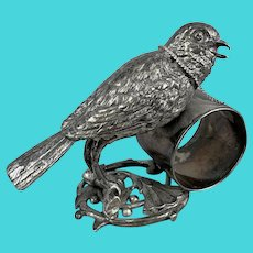 Meriden Britannia Silver Plated Figural Song Bird Napkin Ring
