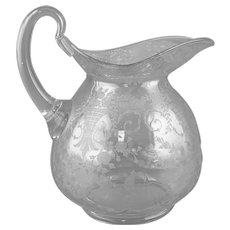Cambridge Doulton Jug 3400 Pitcher with Portia Etch Decoration