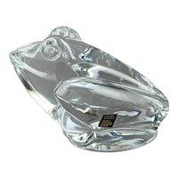 Daum Cristal Frog Paperweight