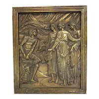 Architectural Bronze Plaque Mercury and the Three Graces