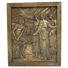 Architectural Bronze Plaque Mercury and the Three Graces