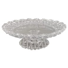 American Brilliant Cut Glass Dessert Stand Compote Russian Canterbury Pattern