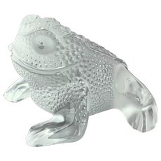 Lalique Crystal Paris Gregoire Toad Frog 11640