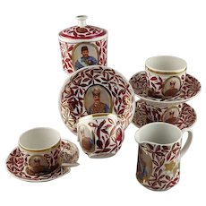 Gardner Verbilki  Russian Porcelain Part Coffee Tea Service