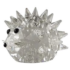 Swarovski 2.5 Inch Hedgehog with Silver Metal Whiskers