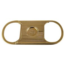 Guillotine Art Deco 14k Sliding Pocket Cigar Cutter
