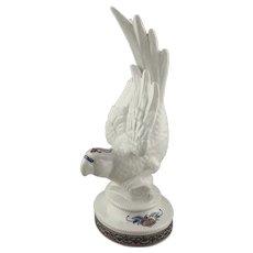 Figural Porcelain Trinket Box Jewelry Box with Byzantium Gilded Parrot Designer Elizabeth Arden