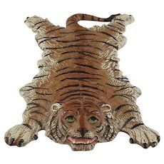 Austrian Cold Painted Vienna Bronze Paperweight Bengal Tiger Trophy