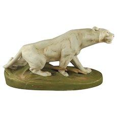 Royal Dux Bohemia Crouching Panther,  Otto Jarl Designer