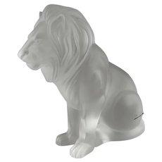 Lalique Cristal France 11656 Bamara Lion