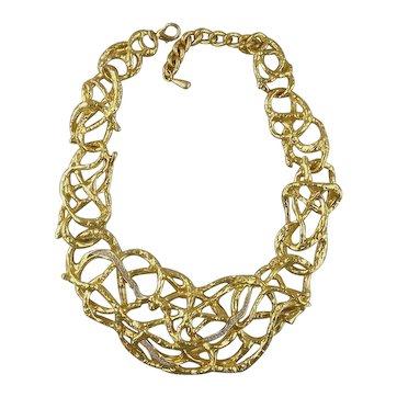 Elizabeth Taylor for Avon Treasured Vine Collection Bib Necklace