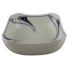 Henry Van de Velde for Meissen Whiplash Pietschenhieb Square Salad Bowl