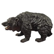 Austrian Cold Painted Vienna Bronze Model Bear in White Metal
