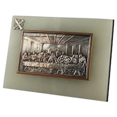 The Last Supper Plaque Mounted on Onyx Base Jerusalem