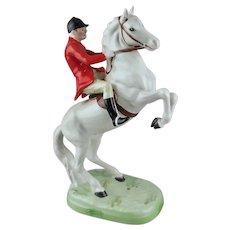 Beswick England Huntsman on Rearing White Horse  868