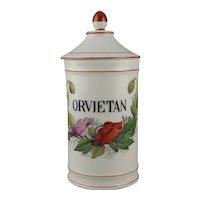 Limoges Porcelain Apothecary Jar Orvietan – Panacea of Elixirs