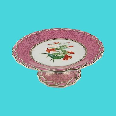 Pink Porcelain Dessert Stand Compote
