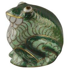 Cloisonné Enamel Frog