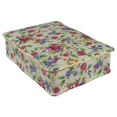 Circa 1950s Royal Winton Old Cottage Chintz Transferware Ceramic Candy Box