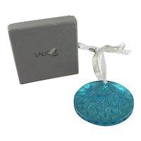 Lalique Crystal Noel 1989 Mistletoe Chistmas Ornament