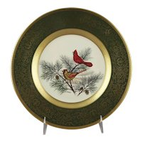 Pickard China Cardinal Limited Edition Lockhart Birds Cabinet Plate