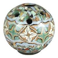 Jean Gerbino Vallauris France Mosaic Pottery Vase