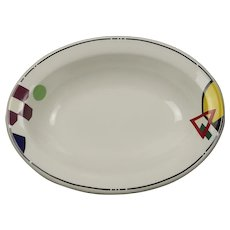 Homer Laughlin Energy Pattern 12 Inch Oval Serving Bowl