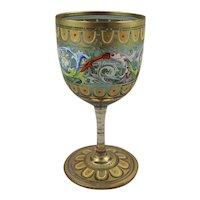 Lobmeyr Enamel Decorated Glass Liquor Wine Goblet