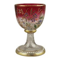 """Moser Decorated Rubina Glass Miniature Cordial Goblet 2.2"""""""