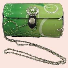 Littlearth Martini Girl Green Melon Metal Handbag with Swarovski Crystals