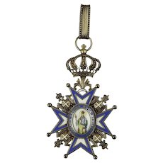 Kingdom of Serbia Order of Saint Sava Grand Cross Badge 1883