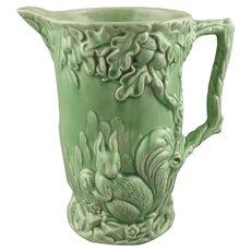 Wade England Art Deco Woodland Squirrel Ceramic Pottery Pitcher
