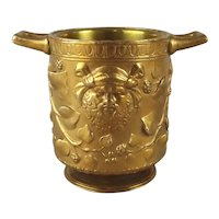 Antique Bronze Footed Cachepot Urn