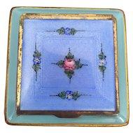 Blue/Aqua Guilloche Compact