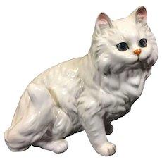 Vintage White Persian Ceramic Cat Figurine