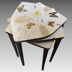 Vintage Mid-Century Tables Stacking Nesting Butterfly Biltmore MCM