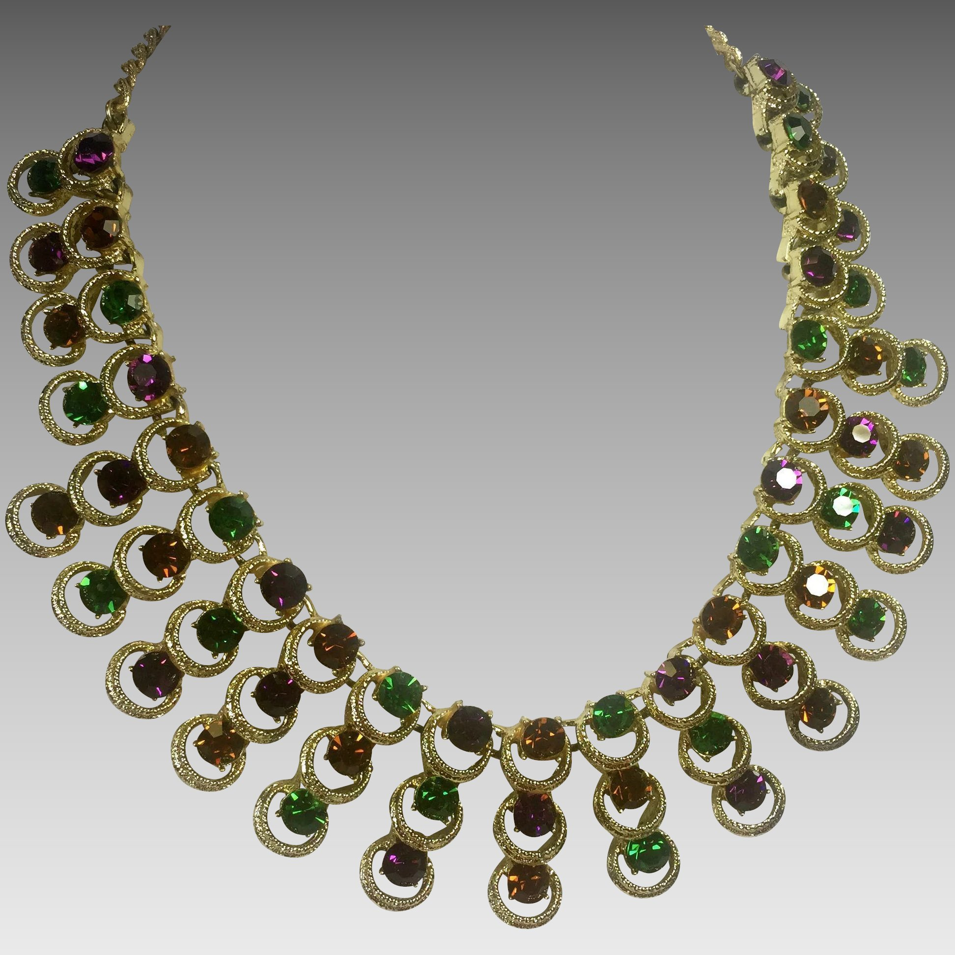 Watch Found: An Amazing Vintage Jewel Tone Necklace from the1920s video