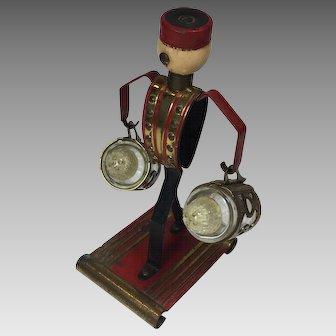 Vintage Tobacco Advertising Salt Pepper Shaker Phillips Morris Bell Boy
