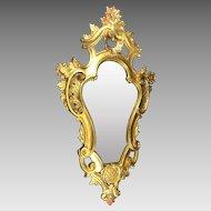 Vintage Mirror Italian Florentine Regency Gold Gilt