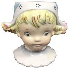 Vintage Egg Cup Ceramic Figural Dutch Girl