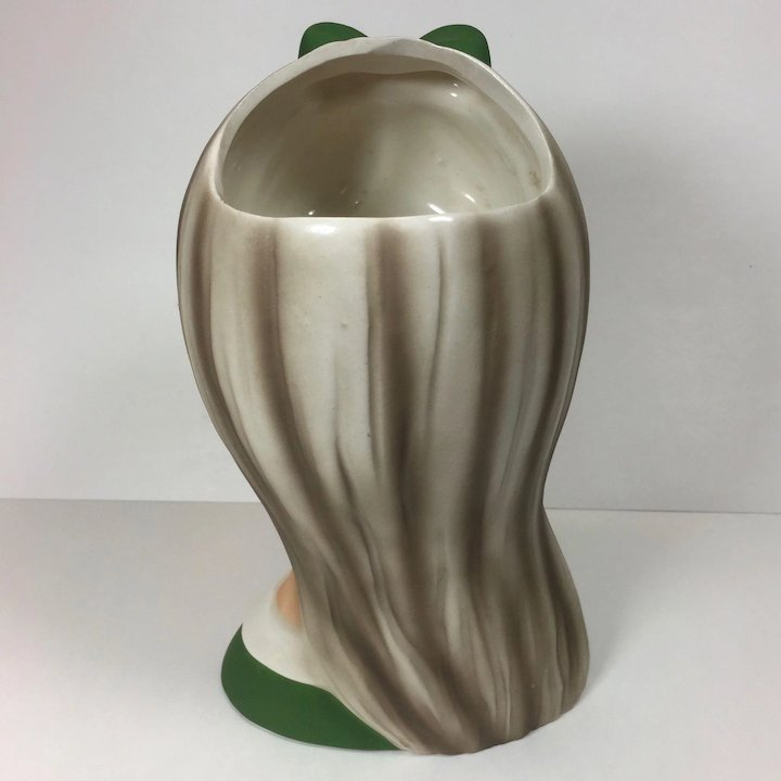 Vintage Head Vase Teen Napco 1960s Green Large Heads Up Vintage